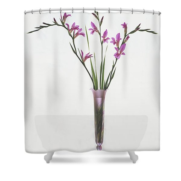 Freesias In Vase Shower Curtain