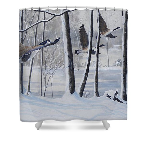 Frozen Over  Sold Prints Available Shower Curtain