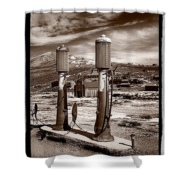 Fuel Pumps And Firehouse In Bodie Shower Curtain