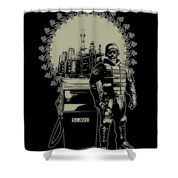 Gas Riot  Shower Curtain