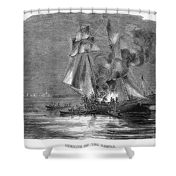 Gaspee Burning, 1772 Shower Curtain