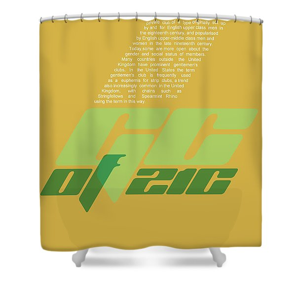 Gentleman's Club Poster Shower Curtain