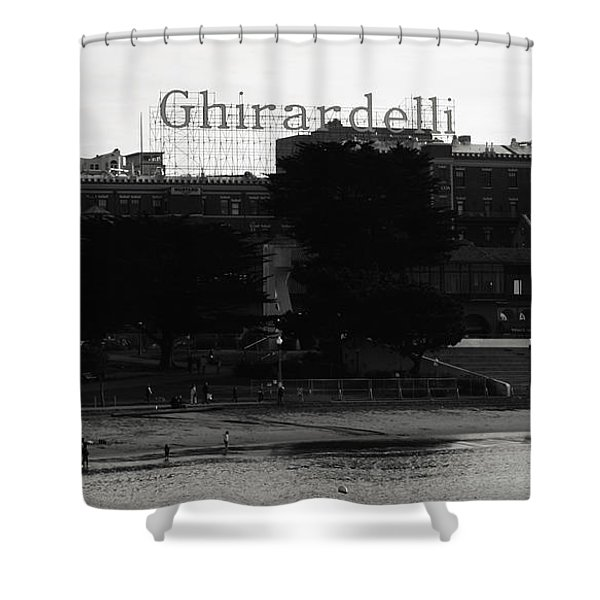 Ghirardelli Square In Black And White Shower Curtain