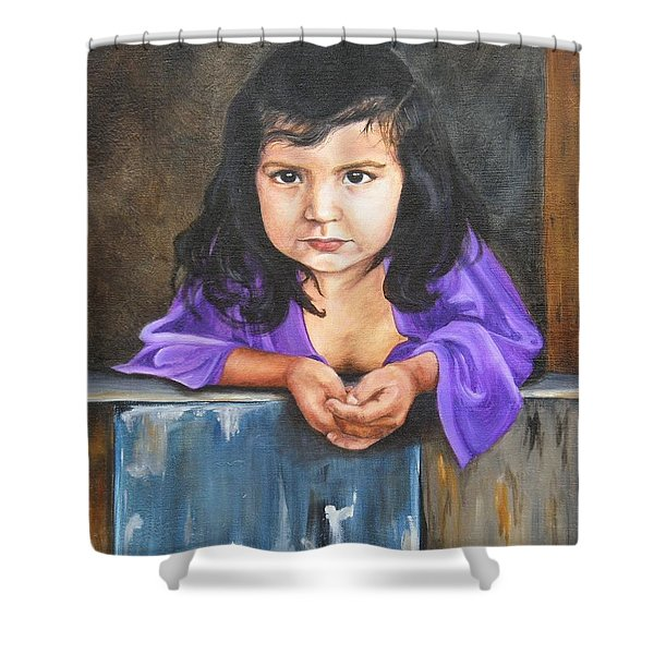Girl From San Luis Shower Curtain