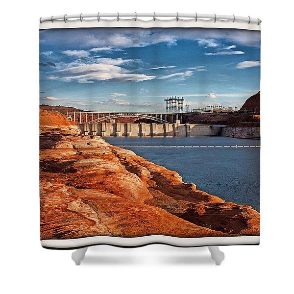 Glen Canyon Dam And Bridge Shower Curtain