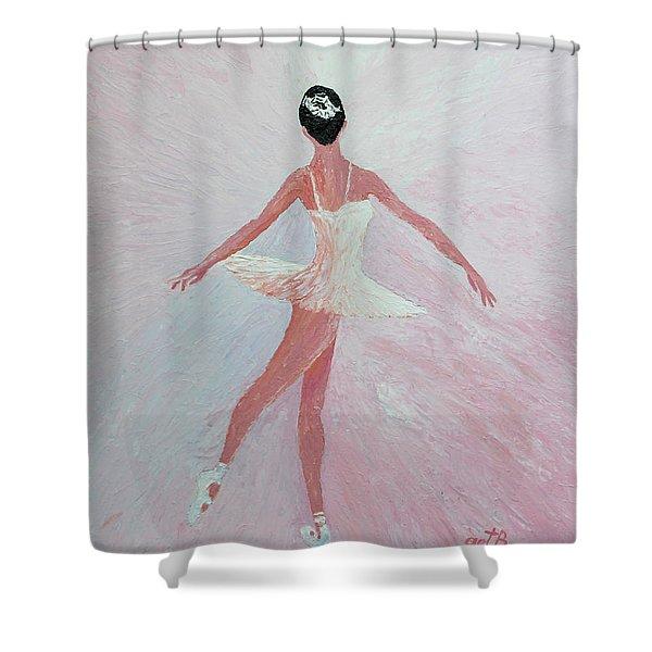 Glowing Ballerina Original Palette Knife  Shower Curtain