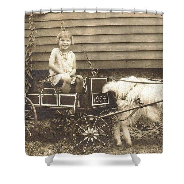 Goat Wagon Shower Curtain