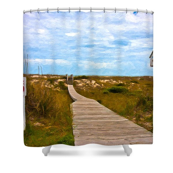 Going To The Beach Shower Curtain