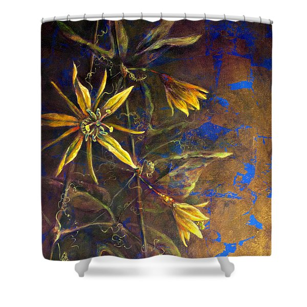 Gold Passions Shower Curtain