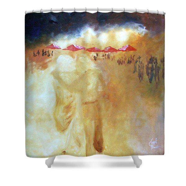 Golden Memories Shower Curtain