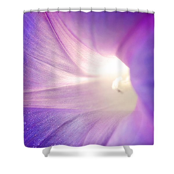 Good Morning Glory Shower Curtain