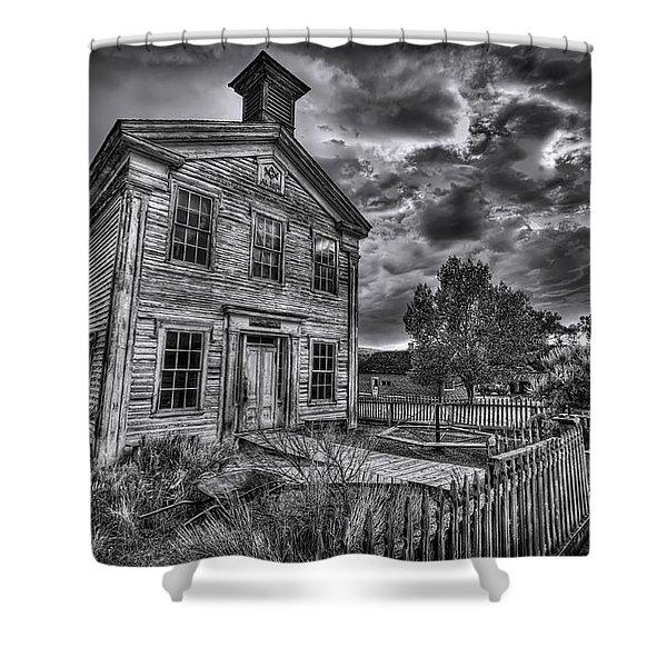 Gothic Masonic Temple - Bannack Ghost Town Shower Curtain
