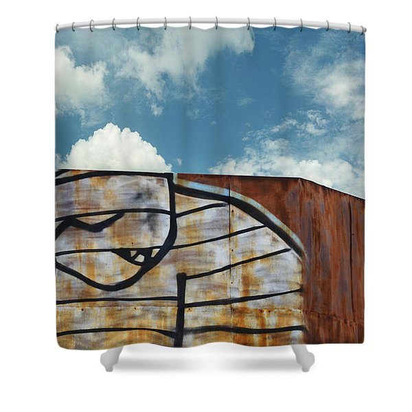 Graffiti Monster Shower Curtain