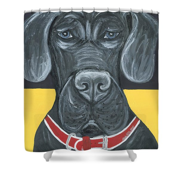 Great Dane Poster Shower Curtain