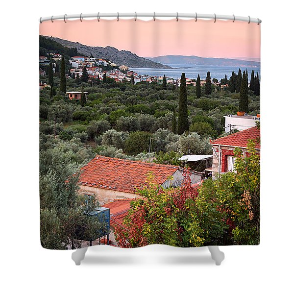 Greek Village  Shower Curtain