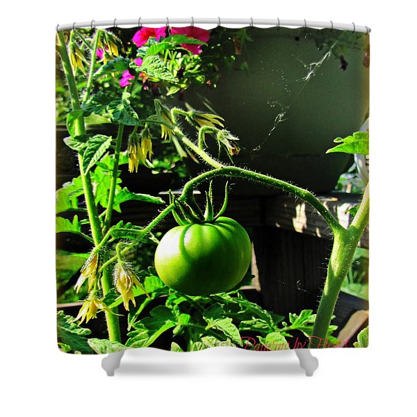 Green Tomatoes Shower Curtain