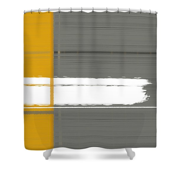 Grey And Yellow Shower Curtain
