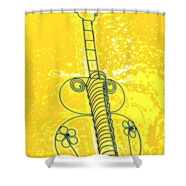 Guitar 2c Shower Curtain