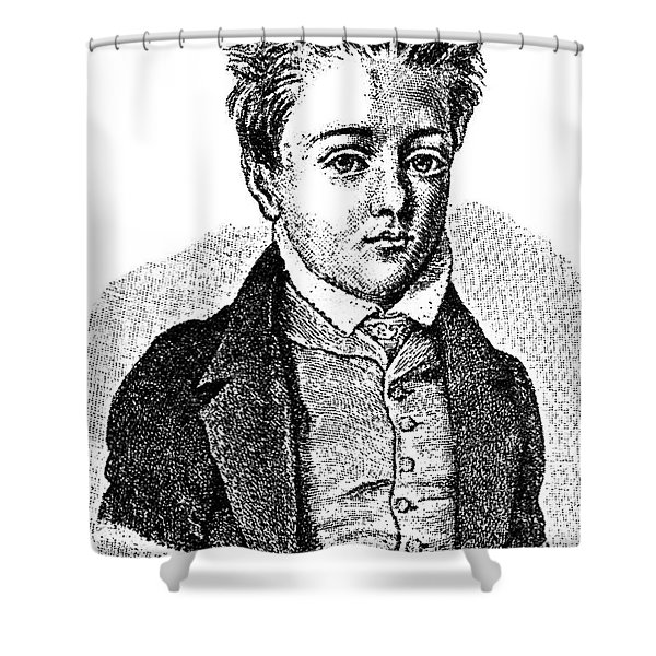 Gustave Flaubert, Age 10, French Author Shower Curtain