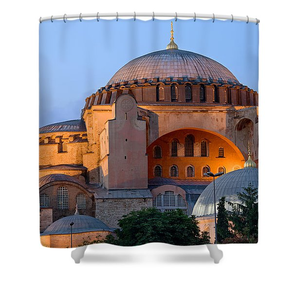 Hagia Sophia At Dusk Shower Curtain