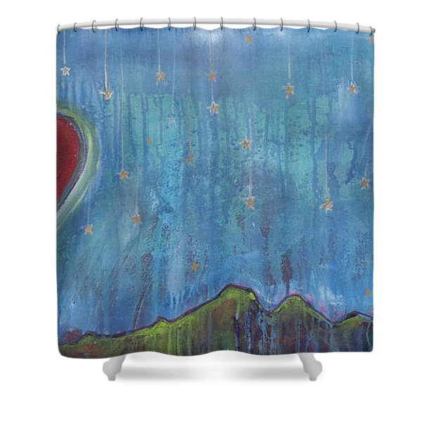 Hang Among The Stars Shower Curtain