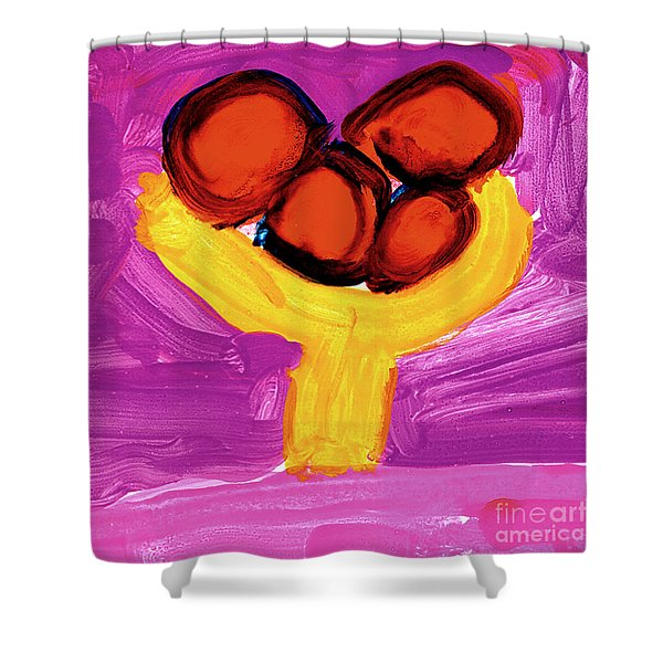 Happy Fruit Shower Curtain