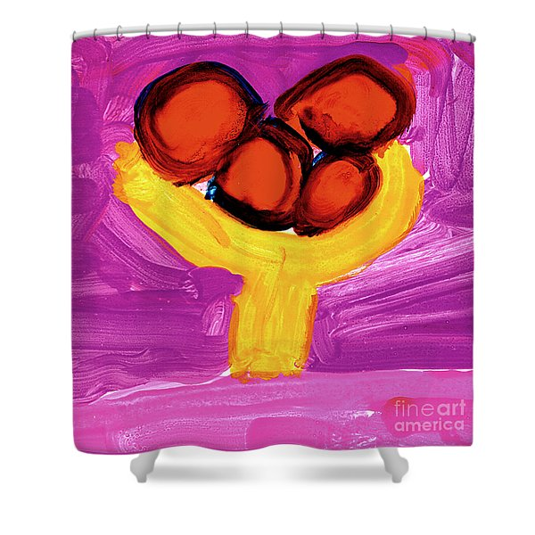 Happy Fruit Shower Curtain