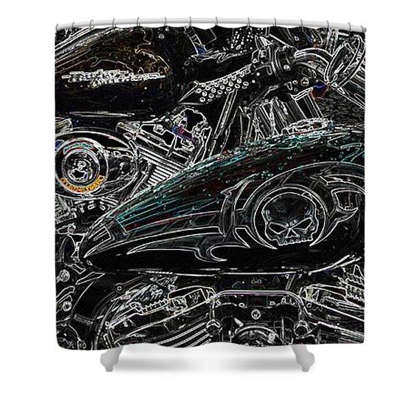 Harley Davidson Style 2 Shower Curtain