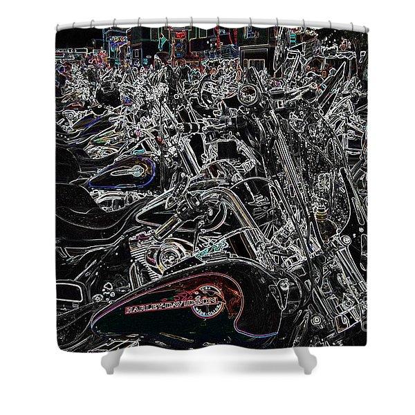 Harley Davidson Style Shower Curtain