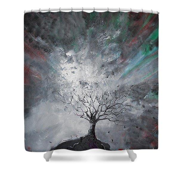 Haunted Tree Shower Curtain