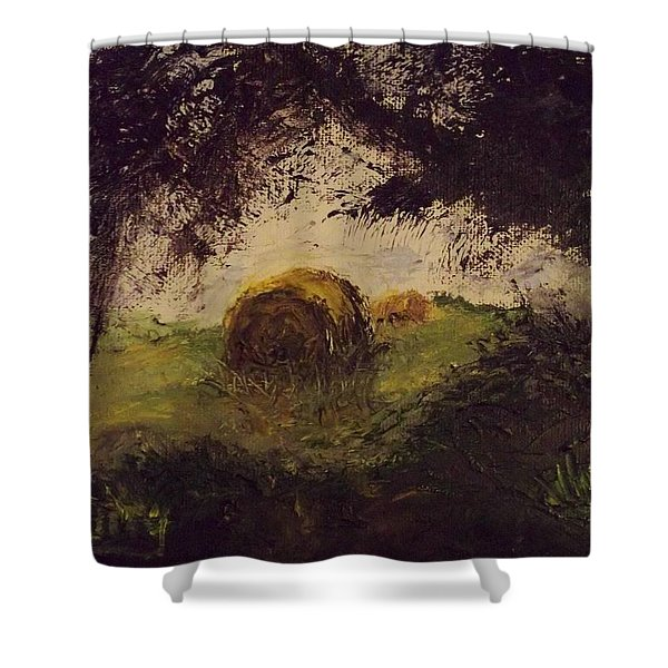 Hay Bale Shower Curtain