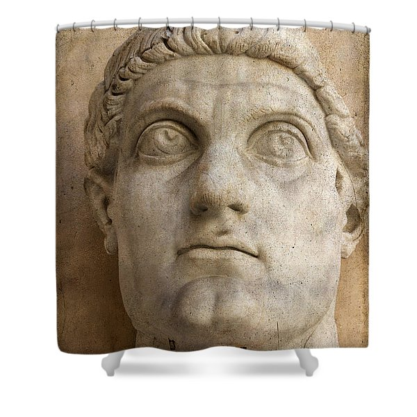 Head Of Emperor Constantine. Rome. Italy Shower Curtain