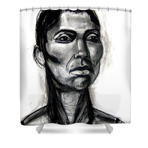 Head Study Shower Curtain