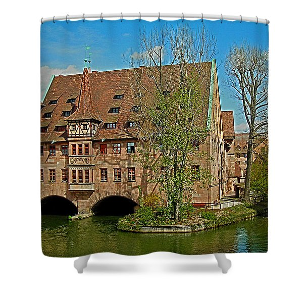 Heilig-geist-spital In Nuremberg Shower Curtain
