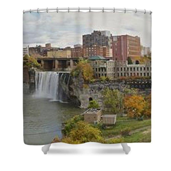 High Falls Panorama Shower Curtain