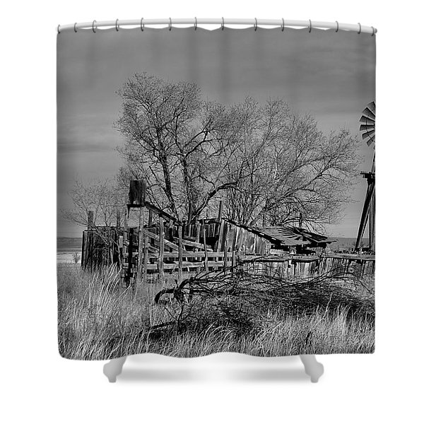 High Plains Wind Shower Curtain