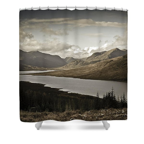 Highland View Loch Loyne Aged Shower Curtain
