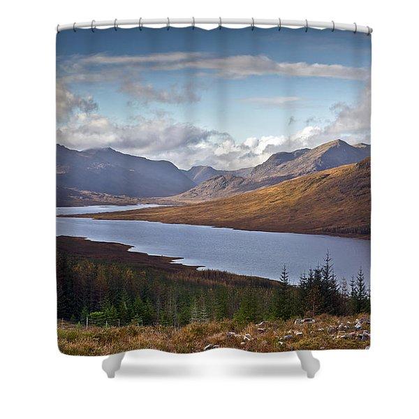 Highland View Loch Loyne  Shower Curtain