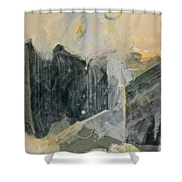 Shower Curtain featuring the painting Hits And Mrs Or Kami Hito E  Detail  by Cliff Spohn