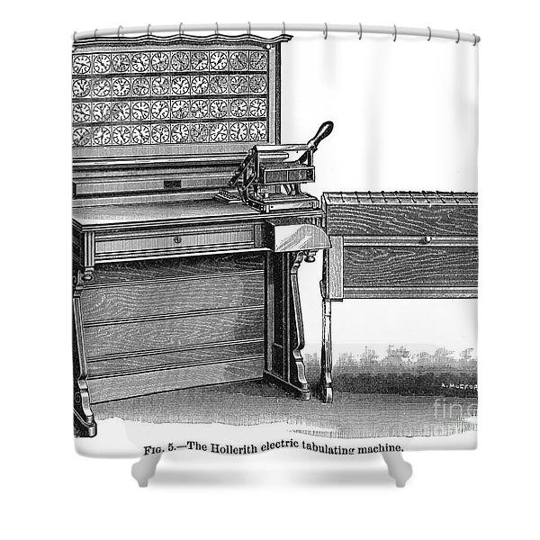 Hollerith Tabulator, 1890 Shower Curtain