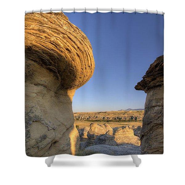 Hoodoo Badlands Alberta Canada Shower Curtain