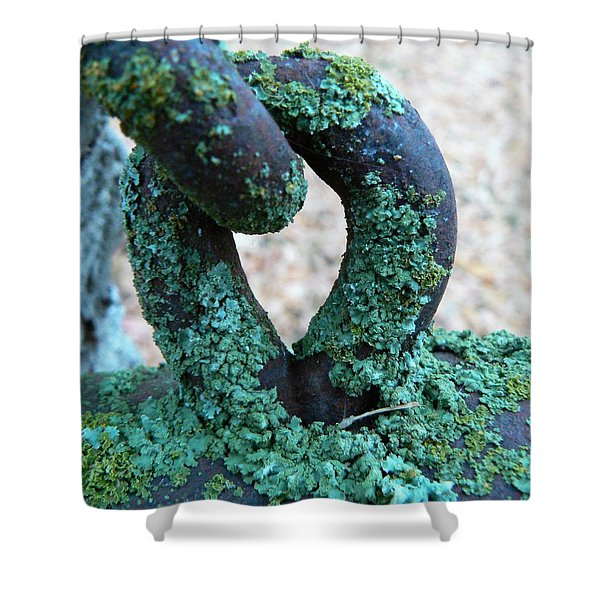 Hooked On Rust Shower Curtain