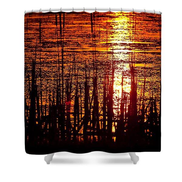 Horicon Marsh Sunset Wisconsin Shower Curtain