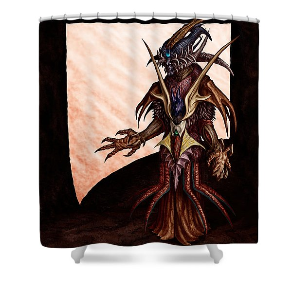 Hornedhead Shower Curtain