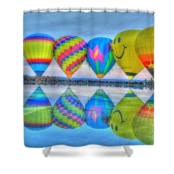 Hot Air Balloons At Eden Park Shower Curtain