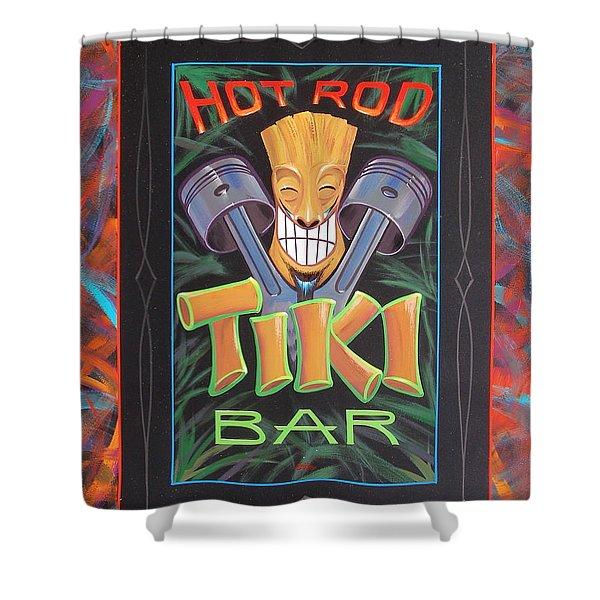 Hot Rod Tiki Bar Shower Curtain