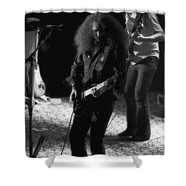 Hughie Thomasson And Frank O'keefe Of The Outlaws Shower Curtain