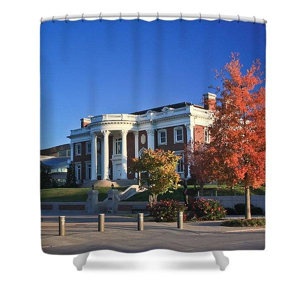 Hunter Museum In Autumn Shower Curtain