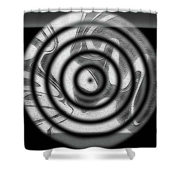 Shower Curtain featuring the digital art Illusion by Mihaela Stancu