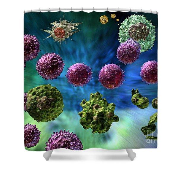 Immune Response Cytotoxic 1 Shower Curtain